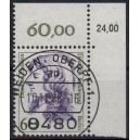 Mi. Nr. 824 Eckrand rechts oben zentrisch gestempelt