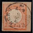 Mi. Nr. 24 gestempelt auf Briefstück Luxus