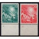 Mi. Nr. 111/112 mit Plattennummer 11 postfrisch