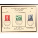 Mi. Nr. 108-110 sauber herrlichem Gedenkblatt mit passendem Sonderstempel