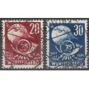 Württemberg Mi. Nr. 51/52 zentrisch gestempelt