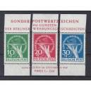 Mi. Nr. 68-70 aus Block postfrisch mit Rand