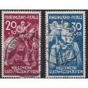 Rheinland Pfalz Mi. Nr. 30/31 fast zentrisch gestempelt geprüft D. Schlegel