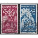 Rheinland Pfalz Mi. Nr. 30/31 sehr schön gestempelt geprüft Schlegel