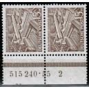 Mi. Nr. 48 HAN mit Druckerzeichen Falzrest im unterem Rand