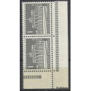 Mi. Nr. 140 Eckrandpaar rechts unten postfrisch mit seltenem Druckerzeichen Kohlschr