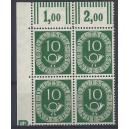 Mi. Nr. 128 Eckrandviererblock links oben postfrisch mit Druckerzeichen negativ 4