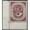 Mi. Nr. 135 Eckrand links unten mit Formnummer 2 postfrisch
