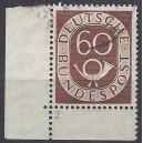Mi. Nr. 135 Eckrand links unten mit Formnummer 2 gestempelt
