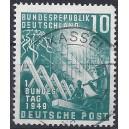 Mi. Nr. 111 Luxus zentrisch gestempelt mit Plattenfehler II