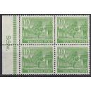 Mi. Nr. 47 Unterrandviererblock postfrisch mit extrem seltenem Druckerzeichen Schw