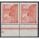 Mi. Nr. 46 Unterandpaar postfrisch mit extrem seltenem Druckerzeichen Ge