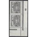 Mi. Nr. 42 Eckrandpaar rechts unten postfrisch mit seltenem Druckerzeichen Kf