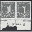 Mi. Nr. 226v Hausauftragsnummer mit Druckerzeichen St postfrisch