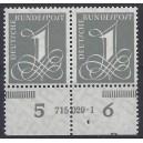 Mi. Nr. 226v Hausauftragsnummer mit Druckerzeichen Bae postfrisch