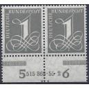 Mi. Nr. 226v Hausauftragsnummer mit Druckerzeichen Ld postfrisch