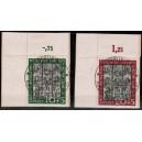 Mi. Nr. 139/40 Eckrand links oben zentrisch mit Sonderstempel entwertet