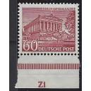 Mi. Nr. 54 Randstück postfrisch mit Druckerzeichen Zi