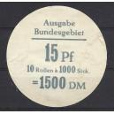 Mi. Nr. 351 Verschlußteller von Rollenstange ( 10 Rollen) für 1000er Rolle in nicht bekannter Farbe!!!