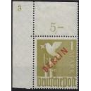 Mi. Nr. 33 Eckrand links oben mit Plattennummer 6