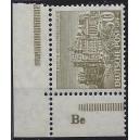 Mi. Nr. 53 Eckrand links unten postfrisch mit extrem seltenem Druckerzeichen Be