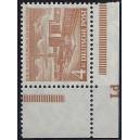 Mi. Nr. 112  Eckrand rechts unten postfrisch mit Druckerzeichen Ld