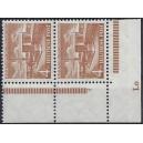 Mi. Nr. 112  Eckrandpaar rechts unten postfrisch mit Druckerzeichen Lo