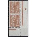Mi. Nr. 112  Eckrandpaar rechts unten postfrisch mit Druckerzeichen Al