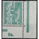 Mi. Nr. 121 Eckrand rechts unten postfrisch mit Druckerzeichen Sa.