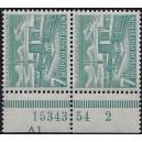 Mi. Nr. 121 Paar mit Hausauftragsnummer postfrisch mit Druckerzeichen Al