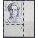 Mi. Nr. 1366 Eckrandstück rechts unten mit fehlendem Zähnungsloch mit Formnummer 1