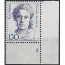 Mi. Nr. 1366 Eckrandstück rechts unten mit fehlendem Zähnungsloch mit Formnummer 3