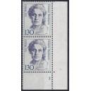 Mi. Nr. 1366 Eckrandpaar rechts unten mit fehlendem Zähnungsloch mit Formnummer 1