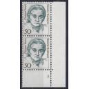 Mi. Nr. 1304 Eckrandpaar rechts unten mit fehlendem Zähnungsloch mit Formnummer 3