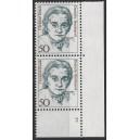 Mi. Nr. 1304 Eckrandpaar rechts unten mit fehlendem Zähnungsloch mit Formnummer 2