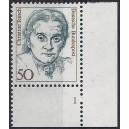Mi. Nr. 1304 Eckrandstück rechts unten mit fehlendem Zähnungsloch mit Formnummer 1
