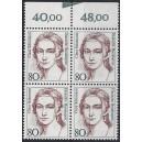 Mi. Nr. 1305 Oberrandvierer mit Markierungsstrich