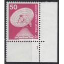 Mi. Nr. 851 Eckrandstück unten rechts mit Formnummer 1 mit T-Zähnung