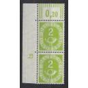Mi. Nr. 123 Eckrandpaar links oben mit Druckerzeichen negativ 2
