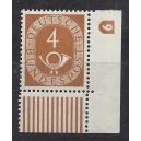 Mi. Nr. 124  Eckrandstück rechts unten mit Druckerzeichen 6
