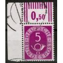 125 Eckrand links oben  gestempelt mit kleiner Null