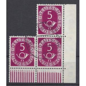 Mi. Nr. 125 Eckranddreierblock rechts unten