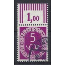 Mi. Nr. 125 OR I Oberrand gestempelt mit kleinen Nullen