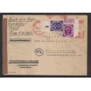 Mi. Nr. 125 Eckrand links unten mit negativem Druckerzeichen 9 auf portogerechtem Brief! Echte Rarität!!