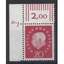 Mi. Nr. 304 Eckrand links oben mit Druckerzeichen DZ 4