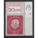 Mi. Nr. 304 Eckrand rechts oben mit Druckerzeichen DZ 4