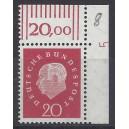 Mi. Nr. 304 Eckrand rechts oben mit Druckerzeichen DZ 5