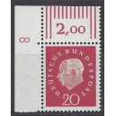 Mi. Nr. 304 Eckrand links oben mit Druckerzeichen DZ 8