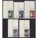 Mi. Nr. 309-313 komplett Eckrand links oben postfrisch meist mit Leerfeld
