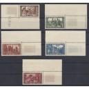 Mi. Nr. 299-303 Eckrand rechts oben postfrisch Luxus